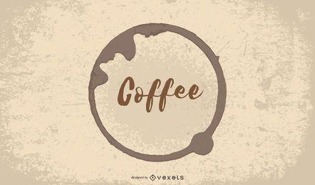 Fondo de cafetería café caliente