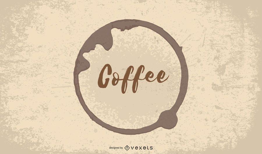 Heißer Kaffee-Cafeteria-Hintergrund