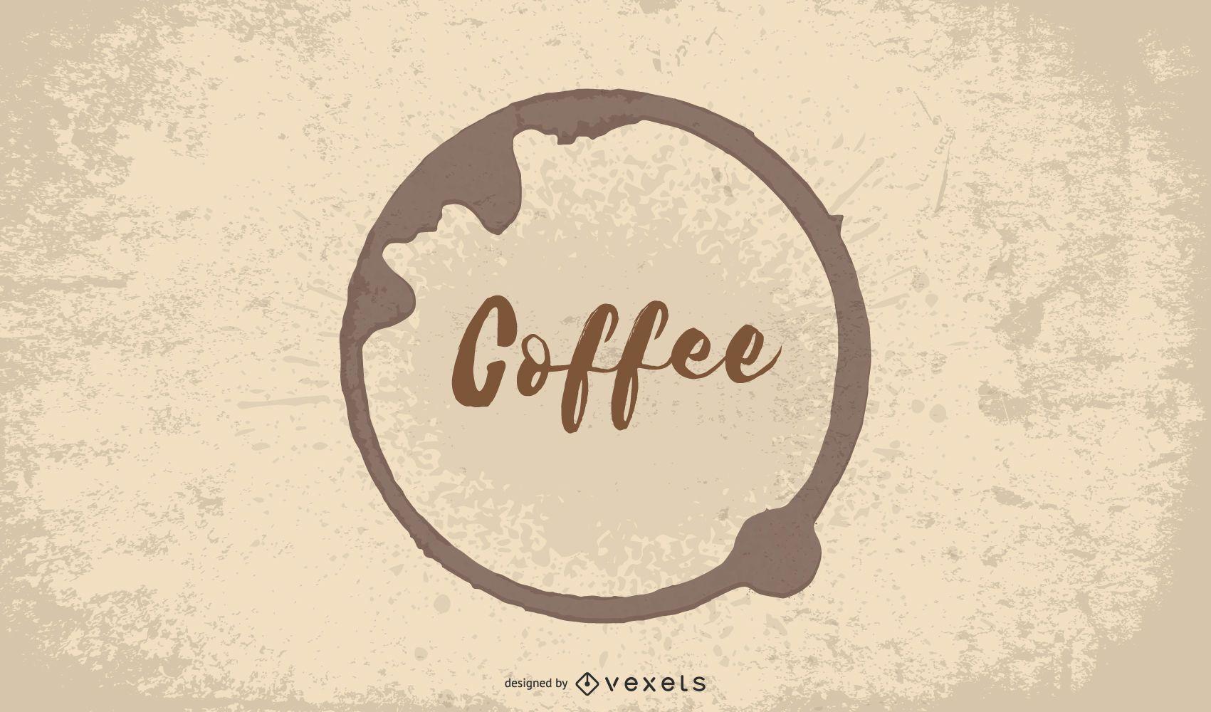 Fondo de cafetería de café caliente