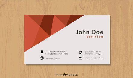 Tarjeta de visita corporativa de estilo minimalista