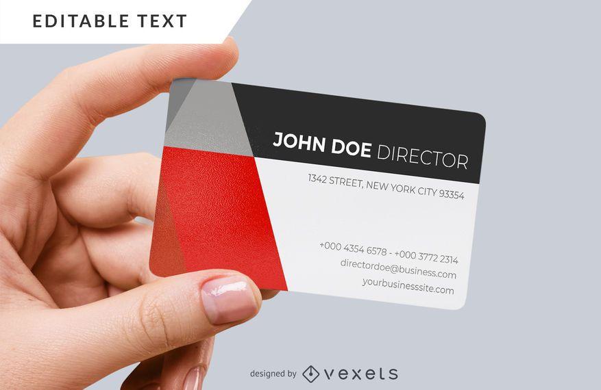 Cartão corporativo moderno
