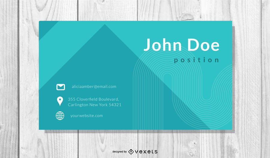 Cartão de visita profissional clássico azul