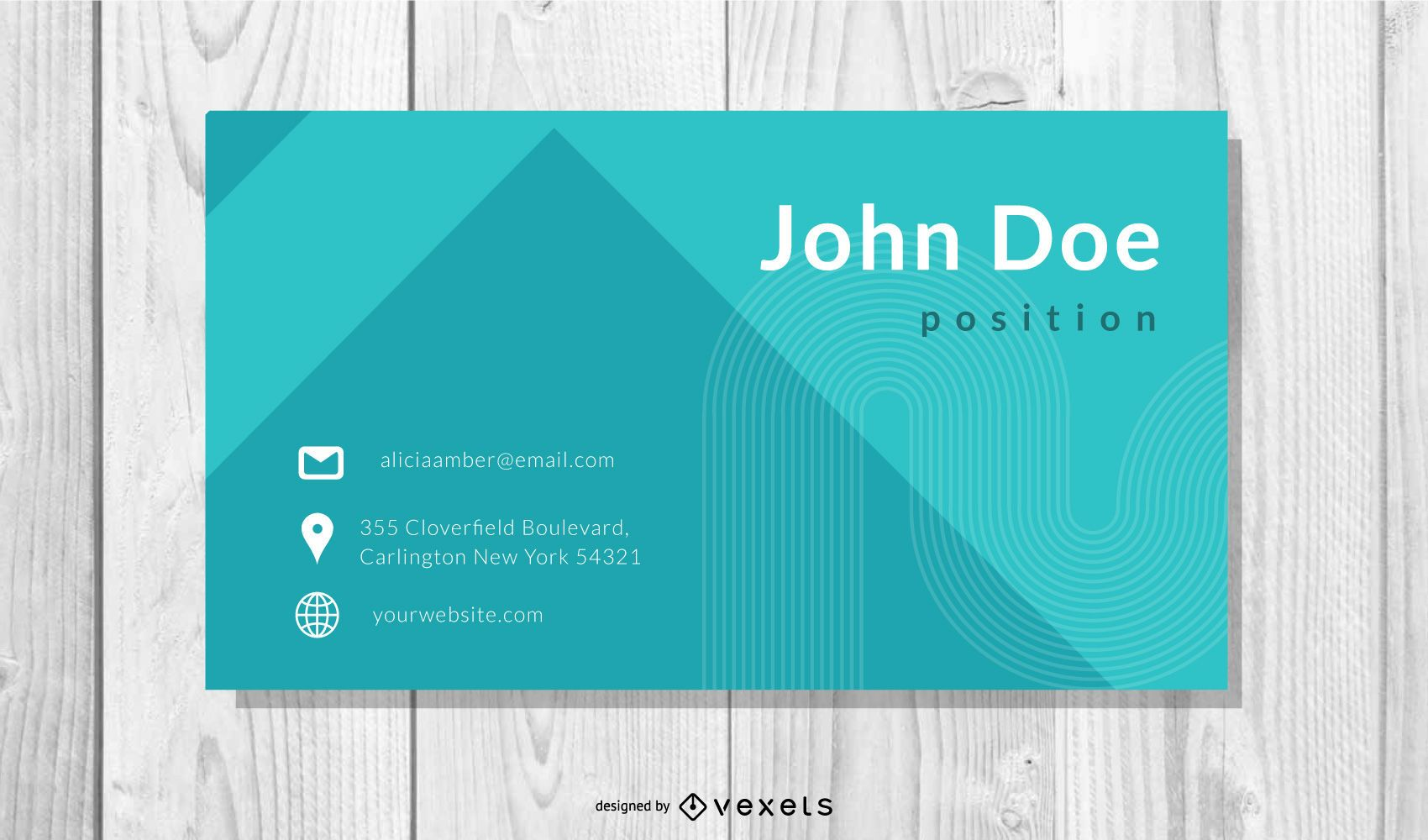 Teal Professional Business Card Template