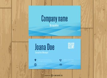 QR Code Business Card Template