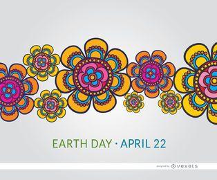 Earth Day bunte Blumen Tapete