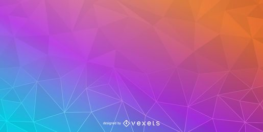 Colorful Crystal Polygonal Background