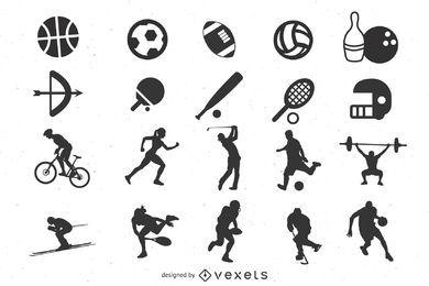 Paquete de iconos de deportes mínimos planos