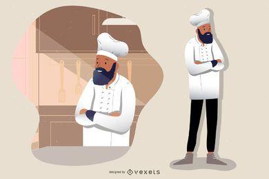 Chef Cartoon personagem de cozinha