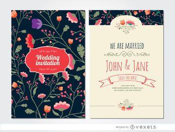 Noble Hochzeitseinladungsblumen