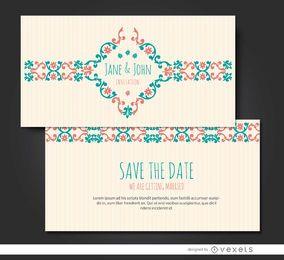 Invitación de matrimonio floral riband