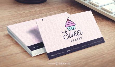 Cartão de visita decorativo da loja da padaria