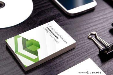 Elegante plantilla de tarjeta de visita vertical