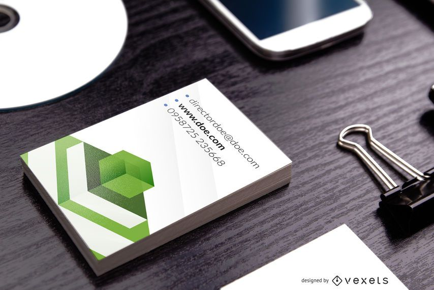 Elegante tarjeta de visita corporativa vertical