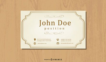 Vintage Classic Business Card Design