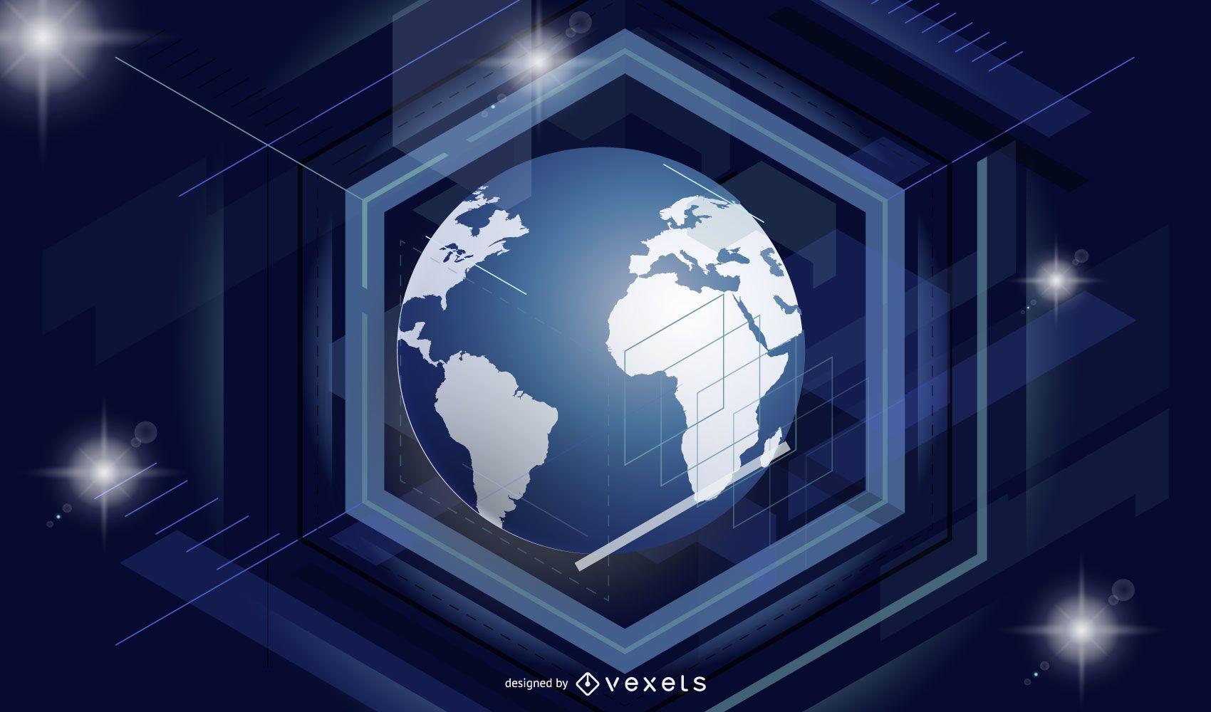 Modern Earth Background Design