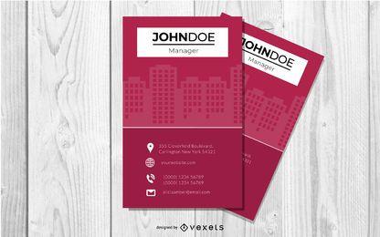 Cartão moderno dos bens imobiliários