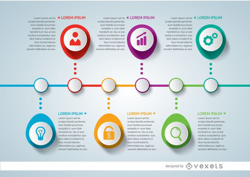 Infographic project timeline - Vector download