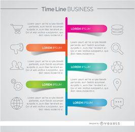 Infográfico de desenvolvimento de negócios da linha do tempo