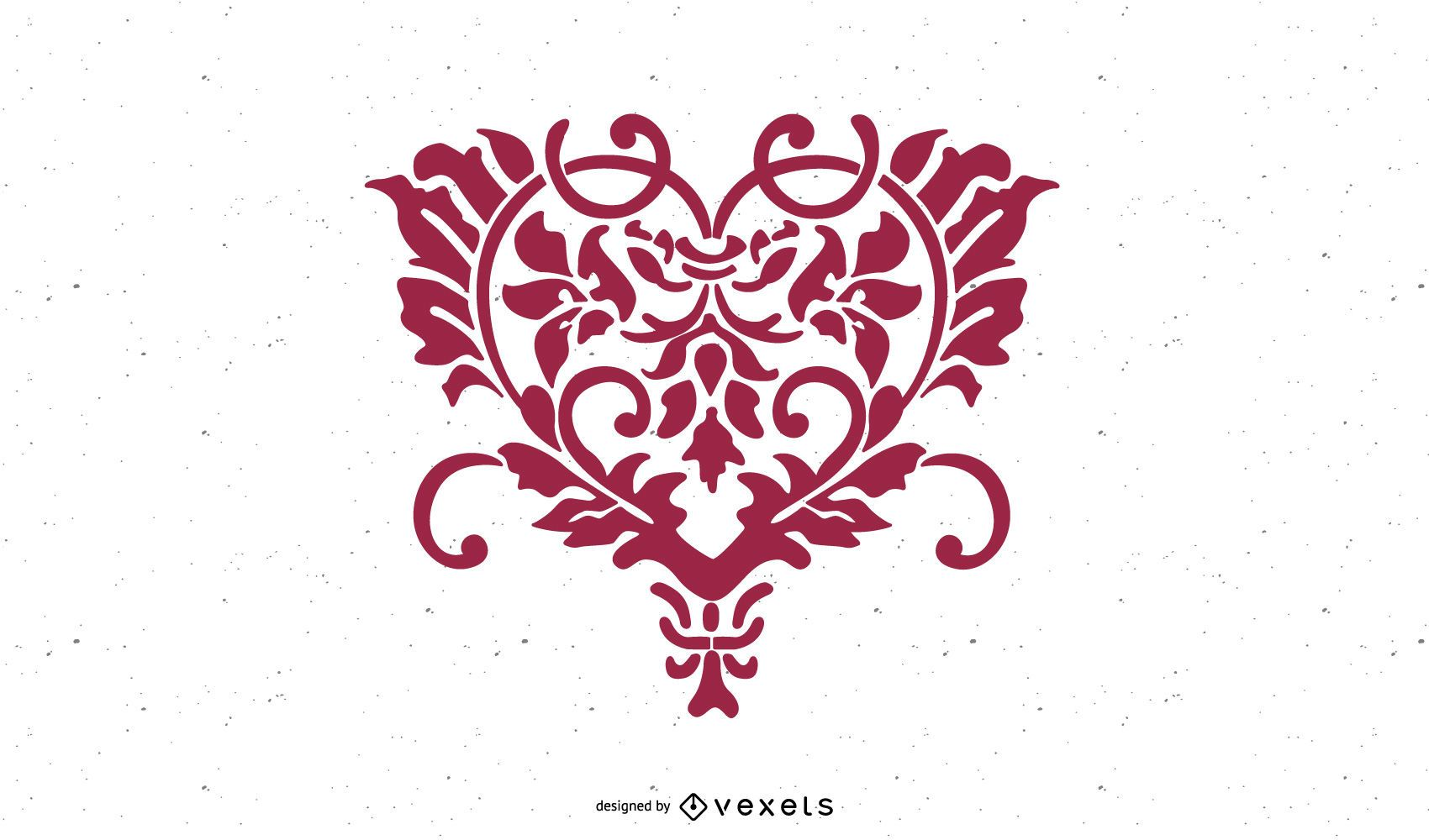 Heart Shaped Hand Drawn Floral