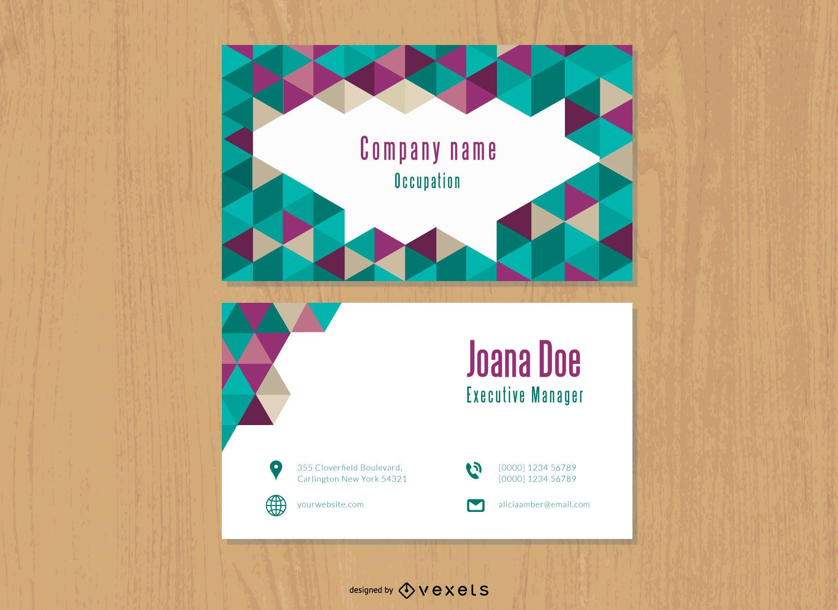 Triangles Polygonal Textured Business Card