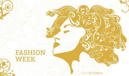 Künstlerisches Mädchen-Mode-Plakat