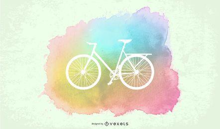 Cartel pintado paseo en bicicleta