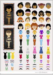 Personaje personalizado femenino de dibujos animados
