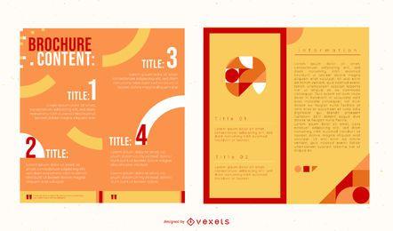 Pacote de brochura colorida de duas dobras