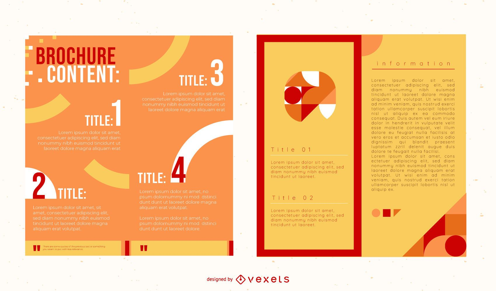 Colorful Two Folds Brochure Pack