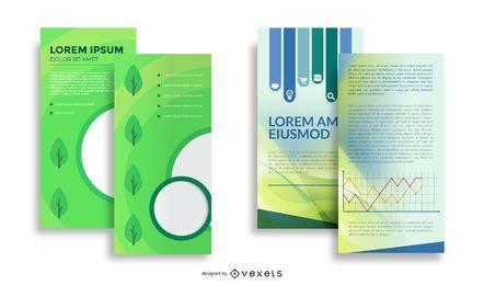 Brochura frente e verso abstrata