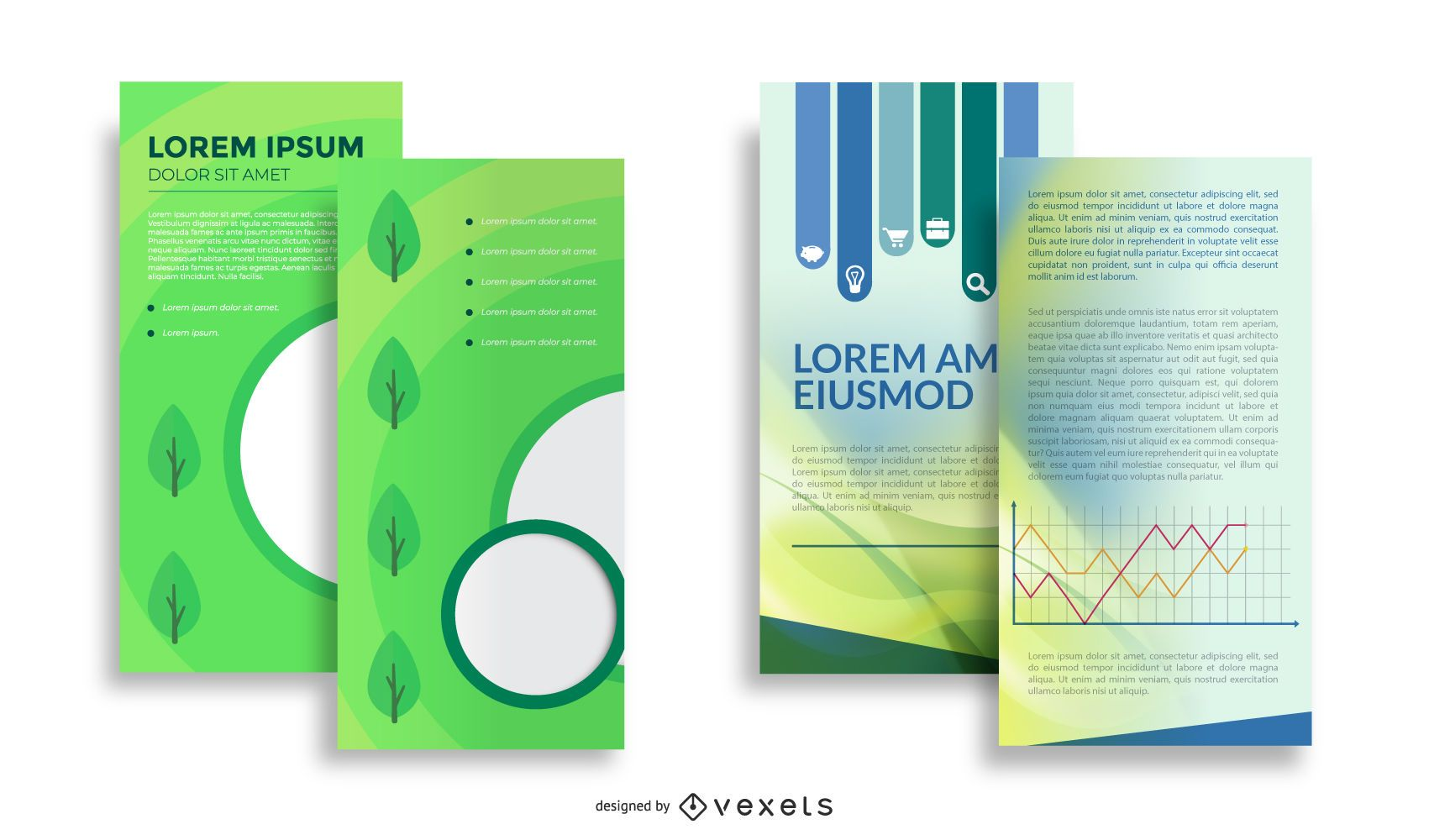 Abstract Both Sided Brochure