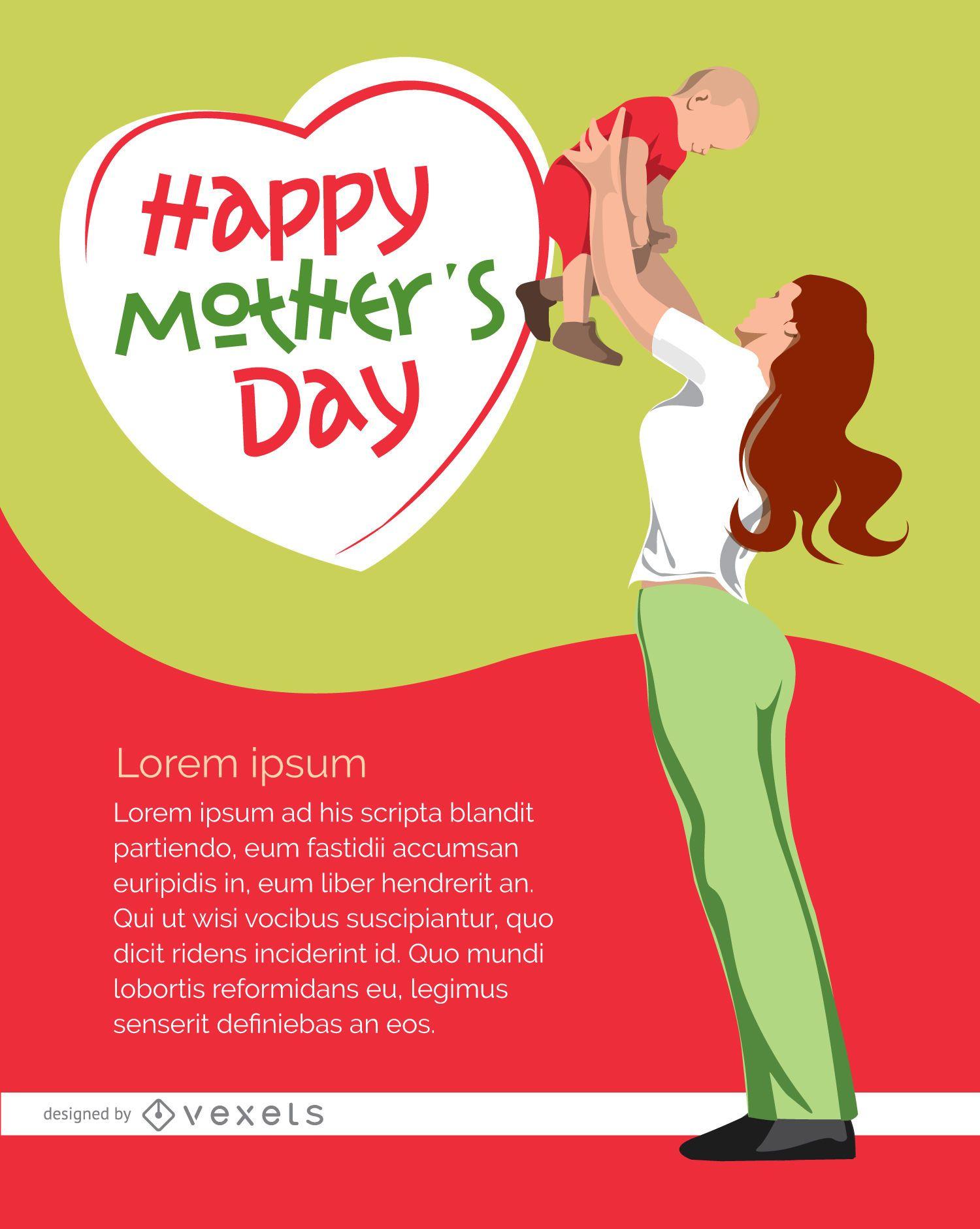 Cartel feliz dia de la madre