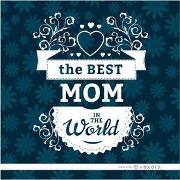 Best mom floral label