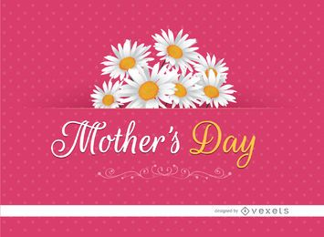 Margaritas de tarjeta del día de madre
