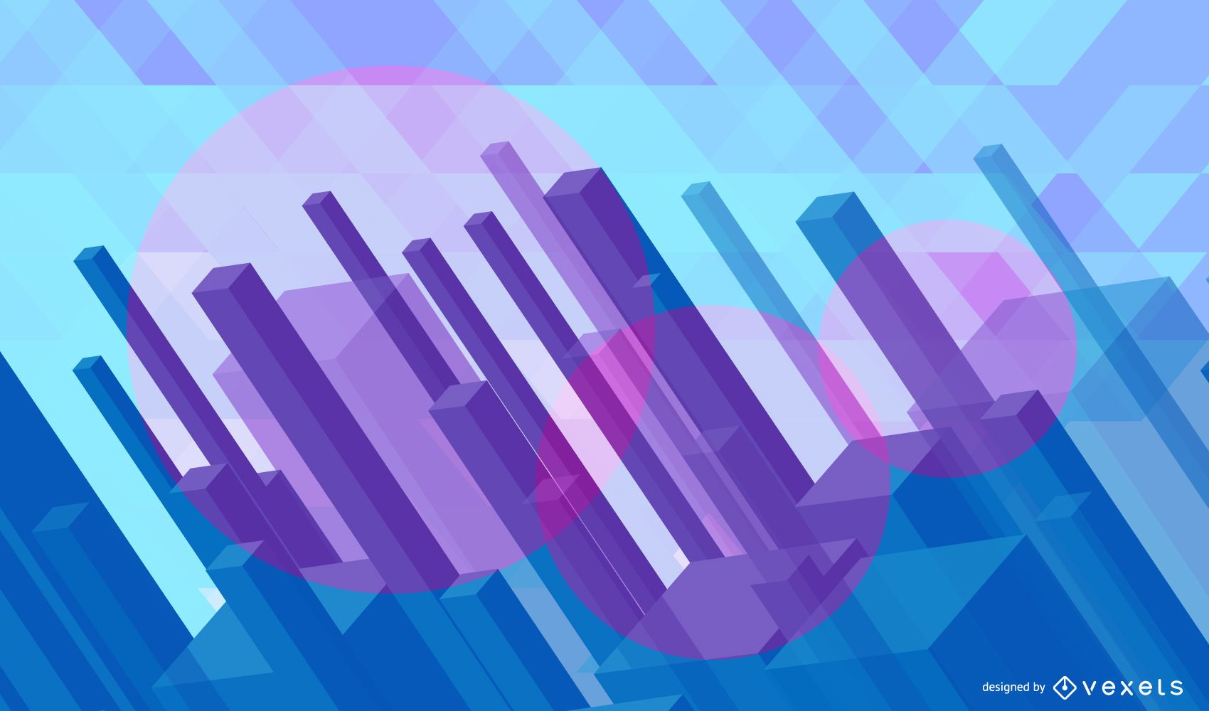 Abstract 3D Polygonal Cityscape Background