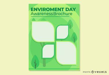 Plantilla de folleto - pancarta de hojas creativas