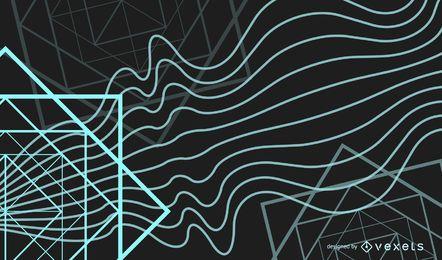 Vertikale Wellen mit buntem Hintergrund der Würfel