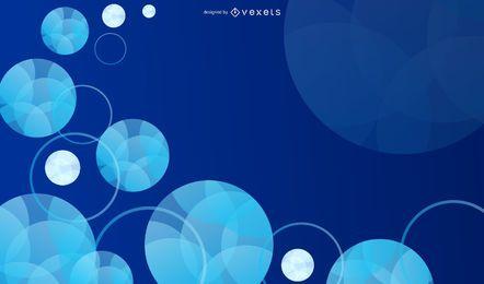 Burbujas fluorescentes y anillos de colores de fondo