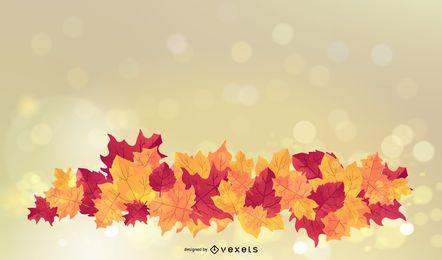 Fondo de hojas de otoño brillante