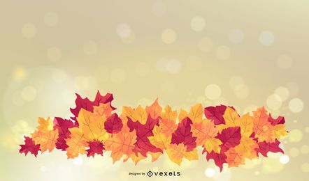 Shiny Autumn Leaves Background