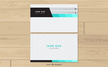 Creative Business Card with Hexagons