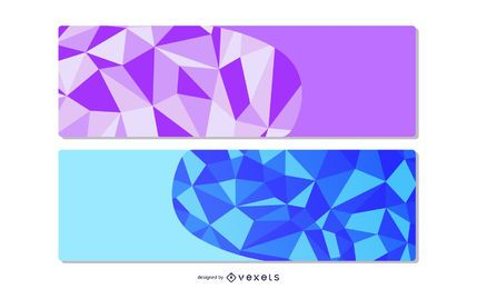 Polygonal Origami Design Classy Banners