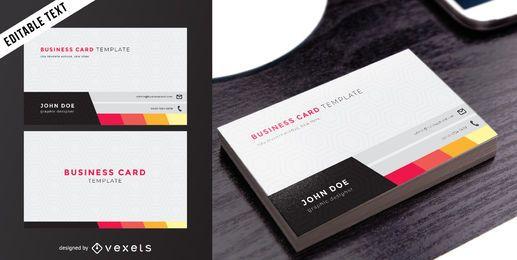 Cartão de visita frente e verso elegante
