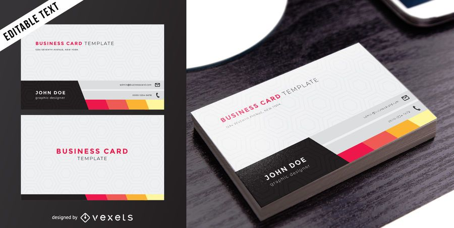 classy two sided business card vector download