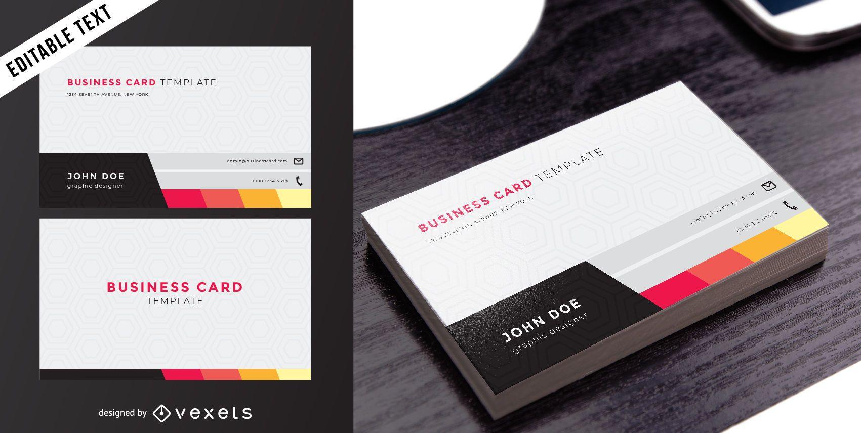 Cartão de visita duplo elegante