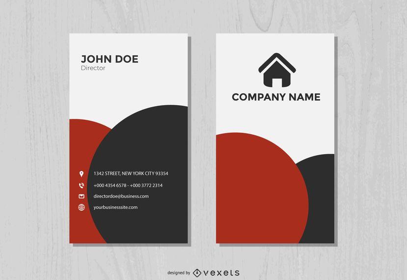Classy Elegant Vertical Business Card