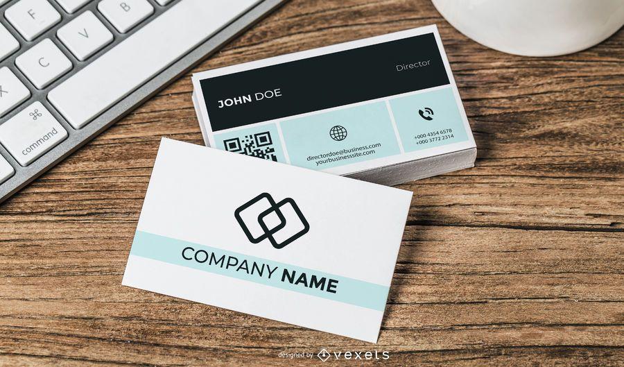 Cartão de visita simplista com QR Code