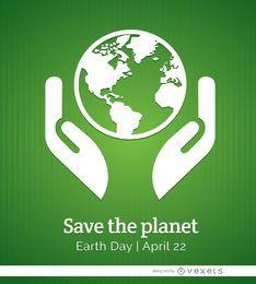 Pôster do planeta do dia da terra