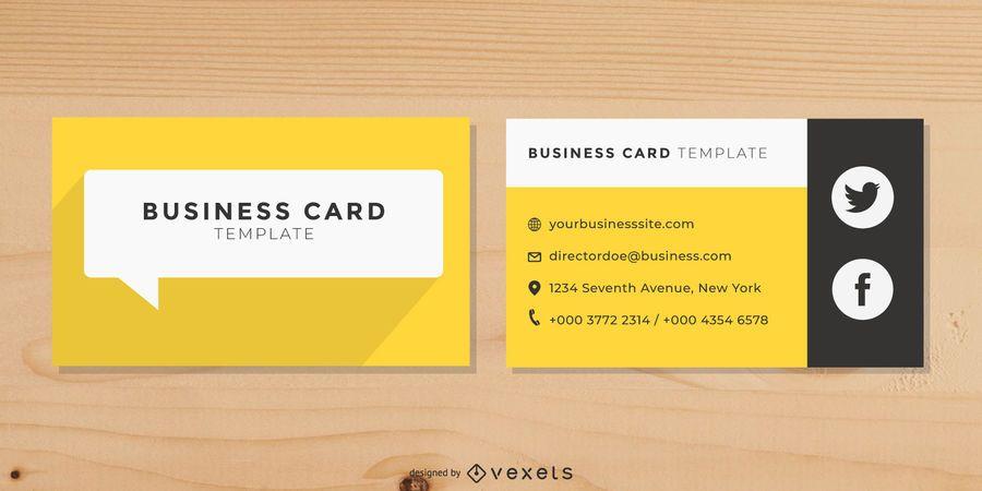Flat speech Bubble Business Card