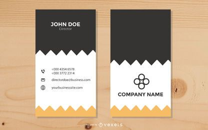 Zigzag Design Vertical Business Card
